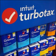 TurboTax Pallet Island Tower Display