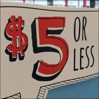 $5-Or-Less Irregular Corrugated Display