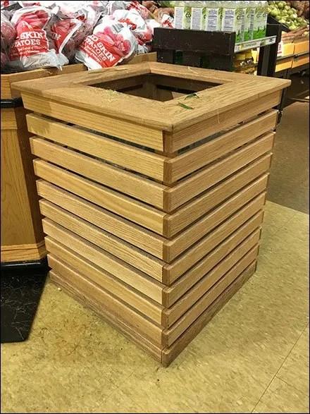 Produce Department Wood Corn Husking Bin