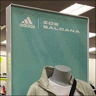Adidas Zoe-Saldana Apparel Mannequin Display