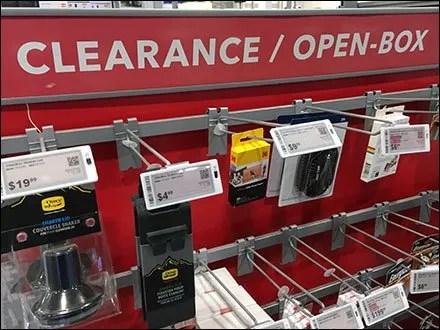 Open-Box Clearance Item Merchandising