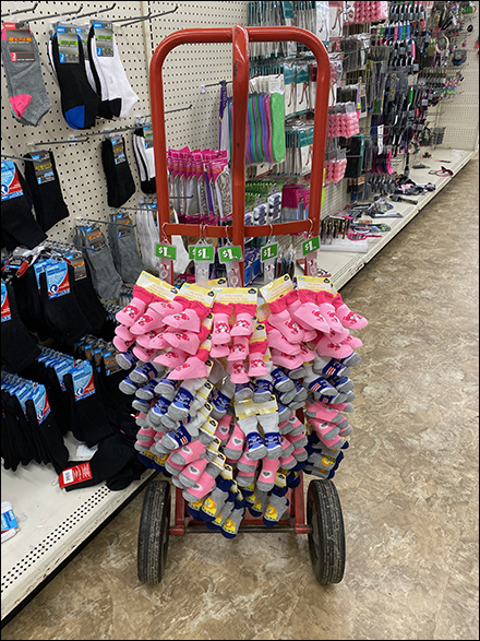 Hand-Truck Strip-Merchandiser Trolly