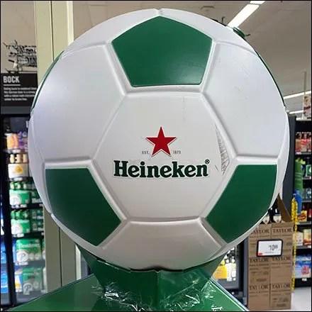 Heineken-Beer Soccer Ball Display Hero