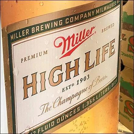 Miller High-Life Bollard Advertising