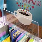 Greeting-Card Acrylic Cross-Sell Book Rack