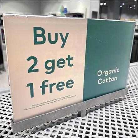 H&M Organic-Cotton BOGO Median Sign