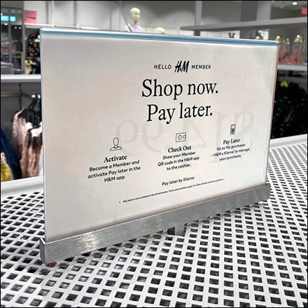 H&M Shop-Now-Pay-Later Median Sign
