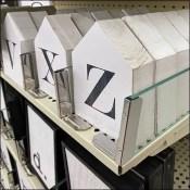 Block-Letter Alphabet Glass Dividers