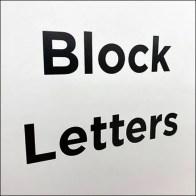 Block Letter Alphabet Endcap Signing