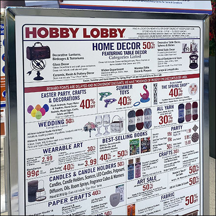 Hobby-Lobby All-Inclusive Entry Display