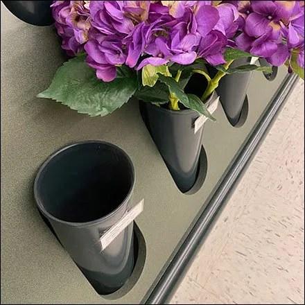 Inline Aisle Flower Vase DetailsInline Aisle Flower Vase Details