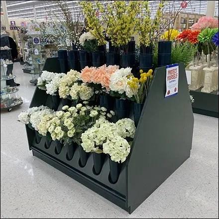Flower Vase Island Display Merchandising