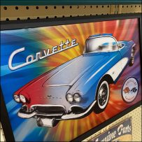 Full-Color Corvette Poster RenderingFull-Color Corvette Poster Rendering