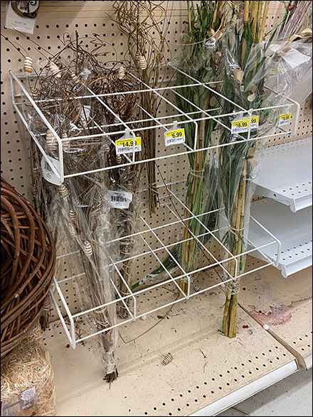 Pegboard All-Wire Floral Organizer