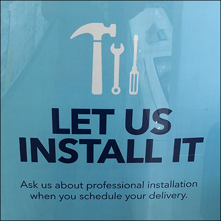 Let-Us-Install-It Freestanding Sign