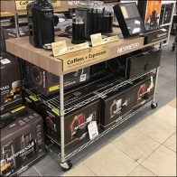 Macy's Nespresso Coffee-Cart Overlay Branding