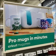 Cricut Mug Personalization Endcap Display
