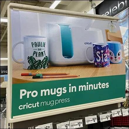 Cricut Mug Personalization Endcap Display