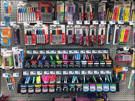 Sharpie Pen Holster Pegboard Display