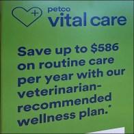 Vital Care Veterinarian Wellness Plan Sign