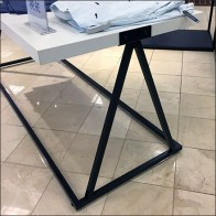 Open-Design Triangle Trestle Table