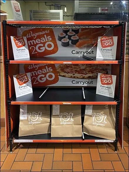 Meals2Go Carryout Self-Service Pickup Rack