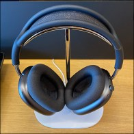Apple Chrome Headphone Stand Propped