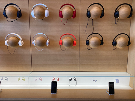 Apple Wood Headphone Headform Wall