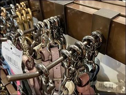 Coach Belt-Tower Bar-Mount Display Hooks