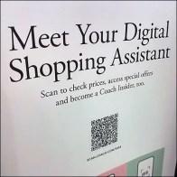 Coach Meet Digital Shopping Assistant Sign