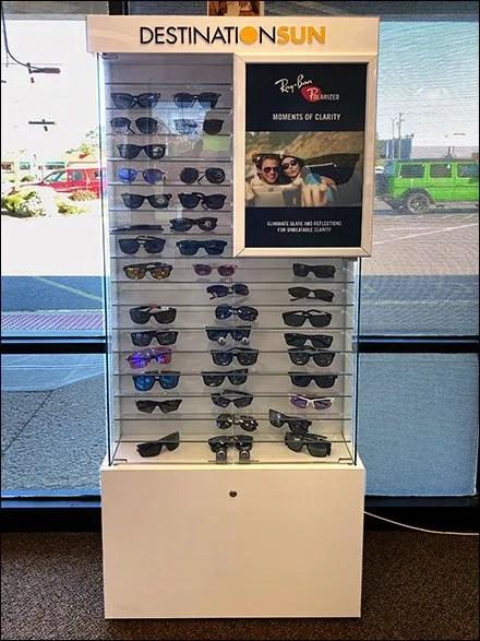 Destination-Sun Sunglasses Cabinet Display