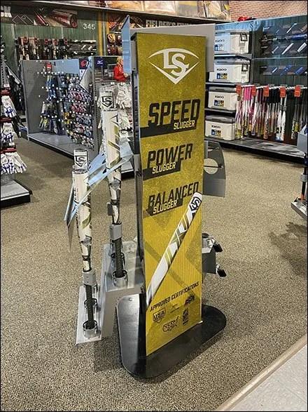 Louisville-Slugger Baseball-Bat Freestanding Tower