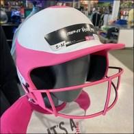 Stylish Softball Helmet Mannequin Array