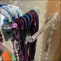 Acrylic-Pegboard One-Hole Display Hooks