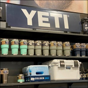 Yeti Water-Bottle Wall Merchandising Display