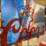 Coors-Light Carry-Out Case Stacked Display
