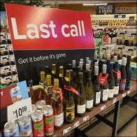Last-Call Get-Before-Gone Wine Display