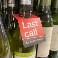 Last-Call Wine Bottle Inline Tag