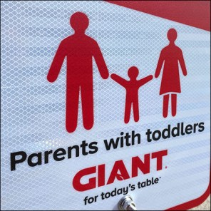 Parents-With-Toddlers Parking Reserved