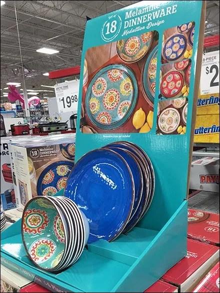 Melamine Tableware Countertop Display
