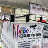 Kids Reusable Face-Mask Grid Hook
