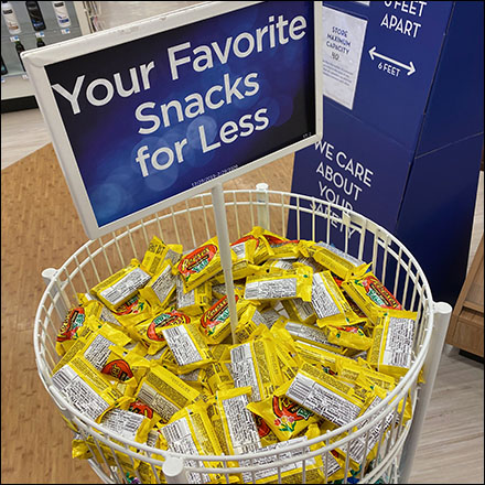 Favorite-Snacks Open-Wire Tower Display