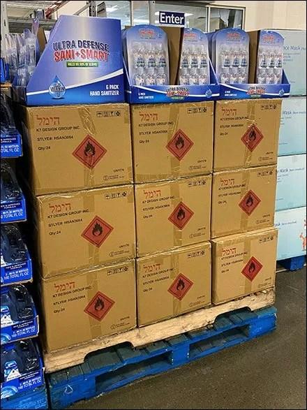 Carded Bulk-Pack Hand-Sanitizer Sales