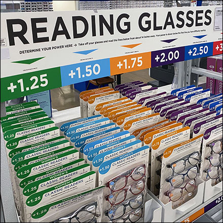 Reading Glasses Magnification Color-Code