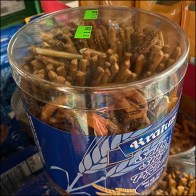Solomia Salted Pretzel Sticks Drum MerchandisingSolomia Salted Pretzel Sticks Drum Merchandising