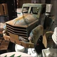 Vintage Pickup Truck Tableware Centerpiece