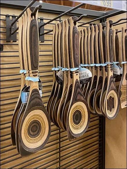 Natural Pakkawood Spoon Slatwire Display