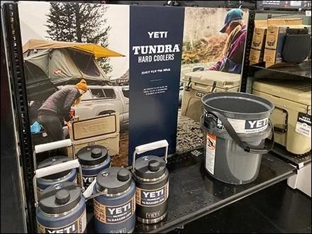 Yeti Tundra Hard-Sided Cooler MerchandisingYeti Tundra Hard-Sided Cooler Merchandising