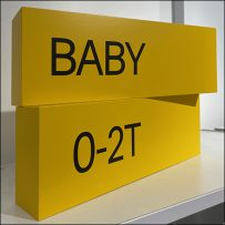 H&M Baby Sizes Dimensional Sign