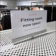 H&M Fitting Rooms Now Open Median Sign